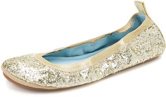 Yosi Samra HITCHED by Yosi Samra Serena Glitter Flats $106 thestylecure.com