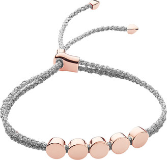 0b8e403c2b0 Monica Vinader Linear bead 18ct rose-gold vermeil friendship bracelet