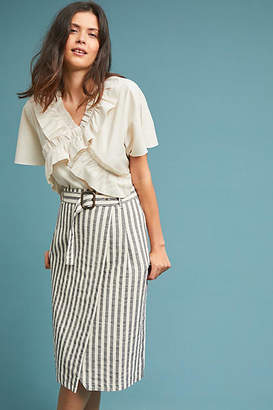Anthropologie Striped Pencil Skirt