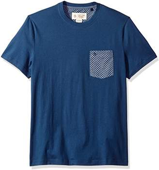 Original Penguin Men's Chambray Geo Printed Pocket Tee