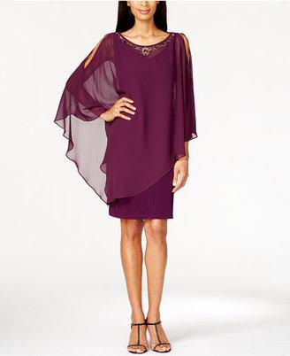 SL Fashions Embellished Capelet Dress $119 thestylecure.com