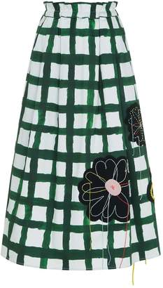Mira Mikati Flower Grid Midi Skirt