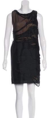 Fendi Distressed Knee-Length Dress