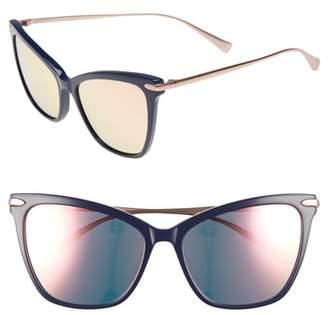 Cat Eye Hadid Jetsetter 55mm Sunglasses