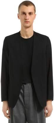 Maison Margiela Wool Poplin Cardigan Jacket