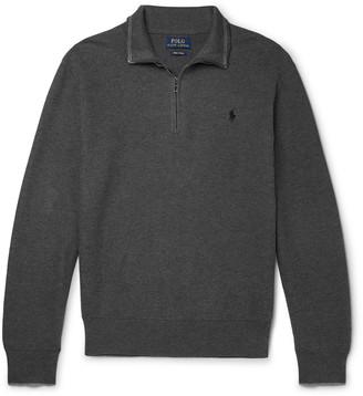 Polo Ralph Lauren Waffle-Knit Cotton Half-Zip Sweater - Men - Gray