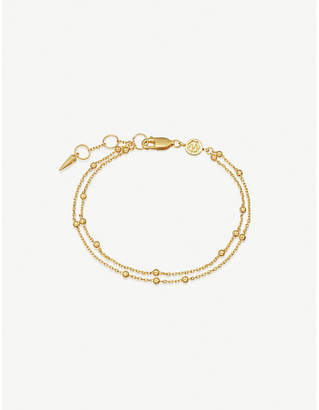 Missoma Ltd Double 18ct gold vermeil chain bracelet