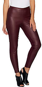 Halston H by Petite Faux Stretch Leather andPonte Leggings
