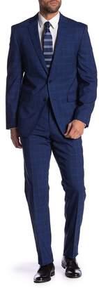 Vince Camuto Plaid Print Slim Fit Wool 2-Piece Suit