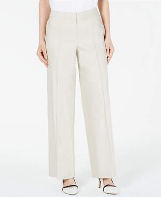 Alfani Petite Wide-Leg Linen Pants