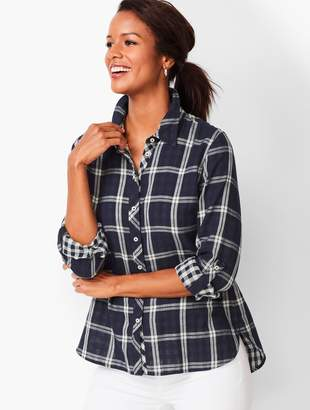 Talbots Classic Cotton Shirt - Plaid