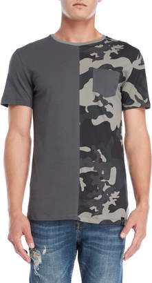 Kultivate Camouflage Patch Pocket Tee
