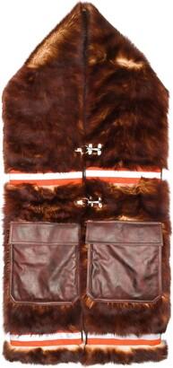 Calvin Klein long fur scarf