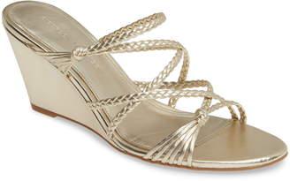Sigerson Morrison Maddie Braided Strap Wedge Sandal