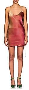 Area Women's Dora Cotton-Blend Lamé Slipdress - Pink