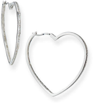 Fallon Pave Heart Hoop Earrings