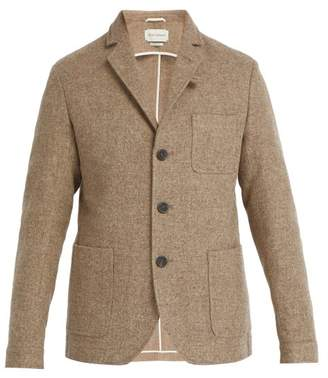 Oliver Spencer Solms Single Breasted Wool Jacket - Mens - Light Brown
