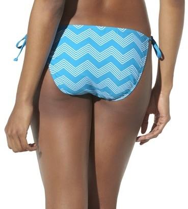 Mossimo Women's Mix and Match Chevron Side Tie Swim Bottom -Coastal Cool