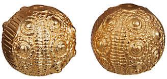Anthropologie Urchin Salt and Pepper Shaker Set, Gold
