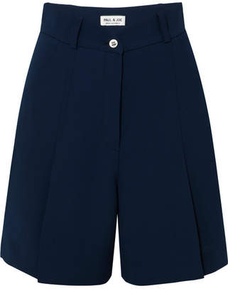 Paul & Joe Orpheon Pleated Crepe Shorts - Navy