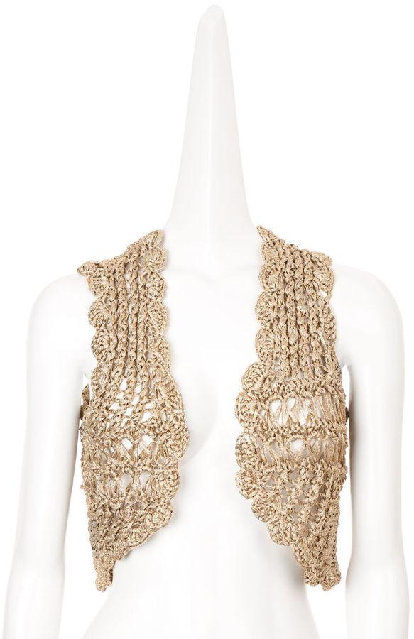 Lutz & Patmos Crochet Vest - Gold