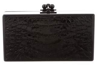 Edie Parker Crocodile-Paneled Jean Clutch
