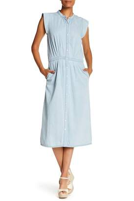 Joie Awel Ruffled Cap Sleeve Denim Dress