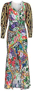 Rixo Women's Madonna Mixed Print Dress