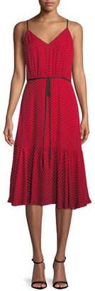 Milly Tiffany Sleeveless Polka-Dot Silk Dress