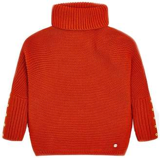 Mayoral Burnt-Orange Oversized Sweater