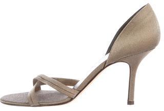 Vera Wang Metallic d'Orsay Sandals $55 thestylecure.com