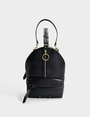 See by Chloe Mino Backpack in Black Small Grain Cowhide Leather