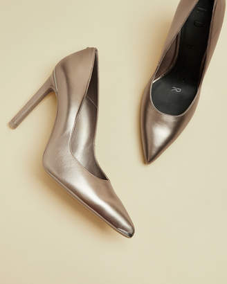 Ted Baker MELNIMA Metallic leather high heel courts
