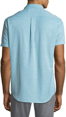 Report Collection Short-Sleeve Textured Oxford Shirt