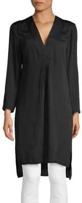 Halston H Long Tunic Blouse