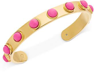 Kate Spade Gold-Tone Bezel Stone Cuff Bracelet