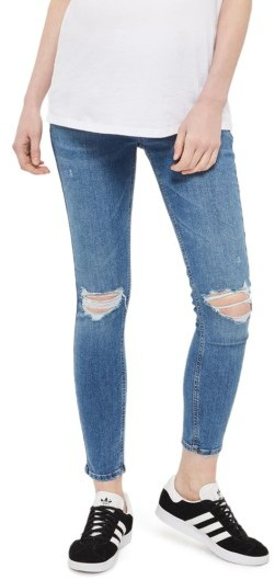 Topshop Women's Topshop Jamie Rip Maternity Jeans