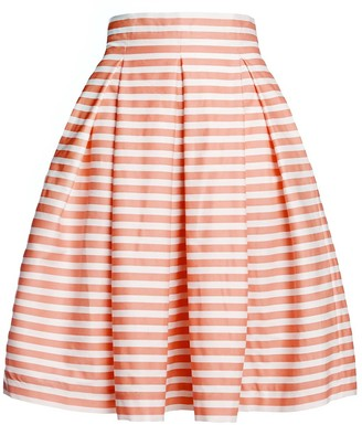 Amalfi by Rangoni Rumour London Coral Striped Midi Skirt