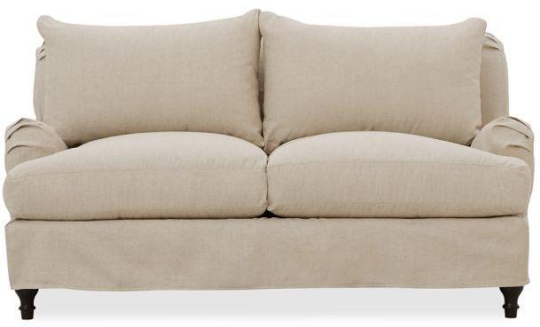 Carlisle Slipcovered Love Seat