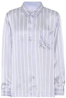 Asceno Striped silk pyjama shirt