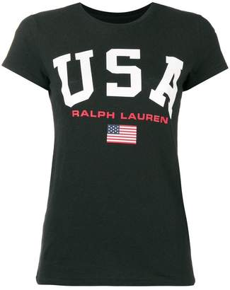 Polo Ralph Lauren USA print T-shirt
