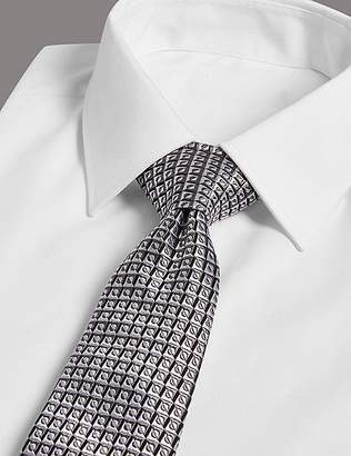 Marks and Spencer Pure Silk Geometric Tie