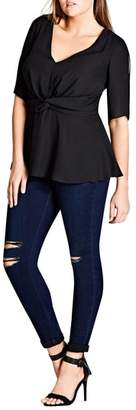 City Chic Front Twist Top