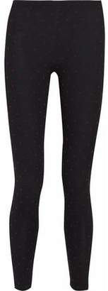 RED Valentino Printed Cotton-Blend Jersey Leggings
