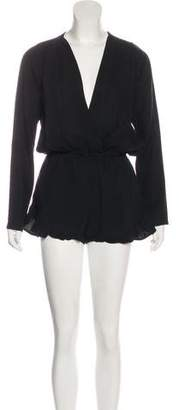 Stone_Cold_Fox Stone Cold Fox Long Sleeve Ruffle-Trimmed Romper