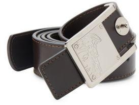 Logo Engraved Leather Belt $295 thestylecure.com