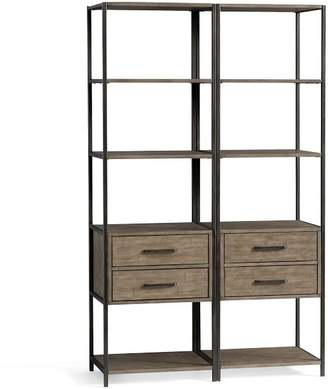 Pottery Barn Ramsey Double Bookcase