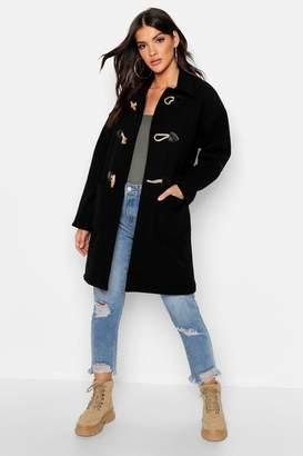 boohoo Wool Look Duffle Coat