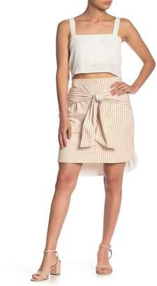Line & Dot Ryline Tie Front Stripe Skirt
