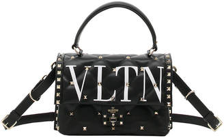 Valentino VLTN Spike Medium Top-Handle Shoulder Bag